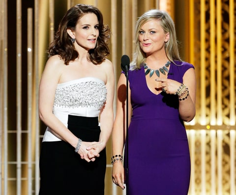 Tina Fey and Amy Poehler hosting the Golden Globes 2015
