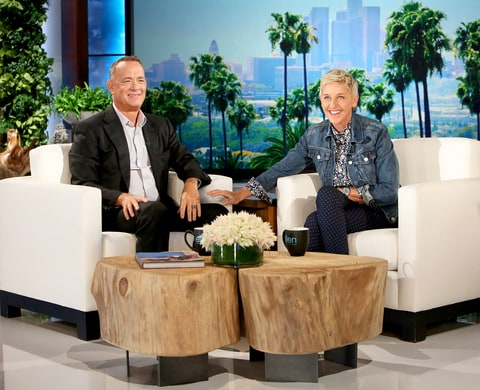 Tom Hanks and Ellen DeGeneres