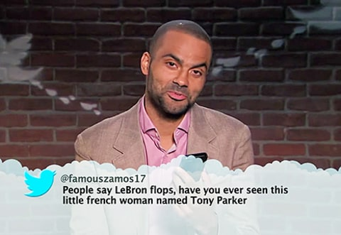 mean tweets teaser - tony parker