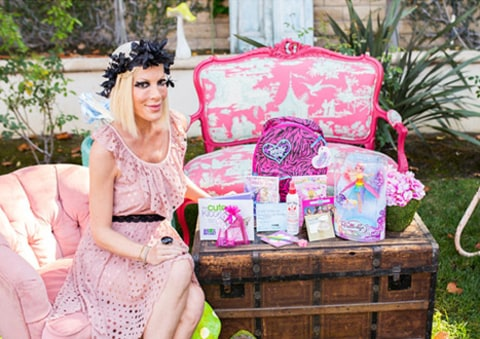 Hattie Birthday Tori Spelling with Gift Bag