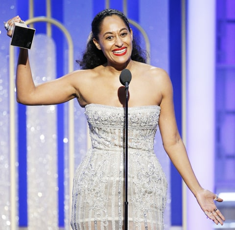 Tracee Ellis Ross accepts the award for Best Actress in a Television Series - Musical or Comedy for her role in