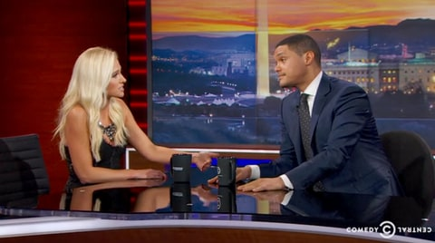Tomi Lahren and Trevor Noah