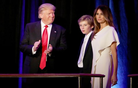 celebrity news melania trump told barron dont stress about moving