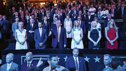 Trump's Family was showcased throughout the convention, with one of his children speaking every night.
