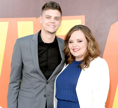 Tyler Baltierra and Catelynn Lowell attend The 2015 MTV Movie Awards.