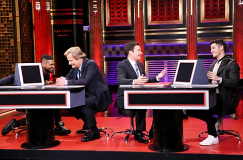 usher, jeff daniels, jimmy fallon and nick jonas