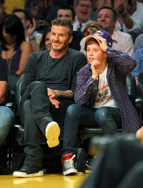 david beckham with brooklyn