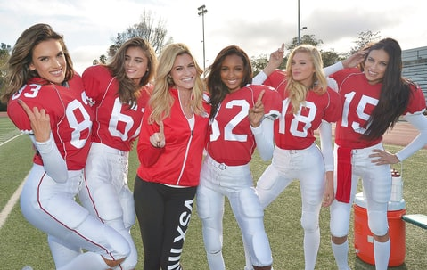 Erin Andrews and Victoria's Secret Angels Alessandra Ambrosio, Taylor Hill, Jasmine Tookes, Elsa Hosk and Adriana Lima