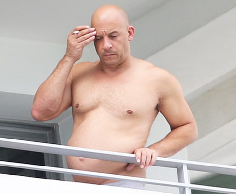 Vin Diesel shirtless
