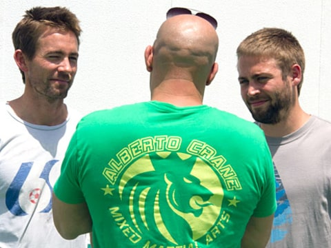 Vin Diesel with Paul Walker's Brothers