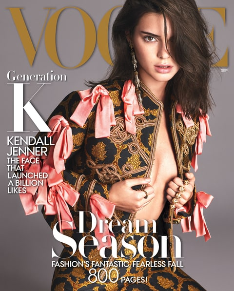 Kendall Jenner Vogue September 2016 Cover