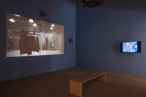 amasi Washington.  Harmony of Difference, 2017. (installation view).  Music composition in six parts and two videos, Color , sound: 32:16 min.  2017 Whitney Biennial ( March 17-June 11, 2017).   Collection  of artist.