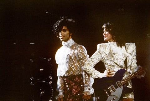 Photo of PRINCE and Wendy MELVOIN and WENDY AND LISA; Prince and Wendy Melvoin performing live onstage