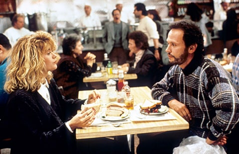 Meg Ryan and Billy Crystal in 1989's When Harry Met Sally