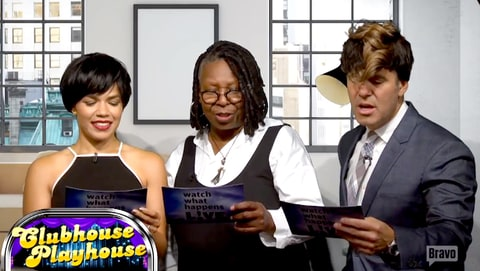 Whoopi Goldberg re-created a scene from 'Ghost' with America Ferrera and Andy Cohen.