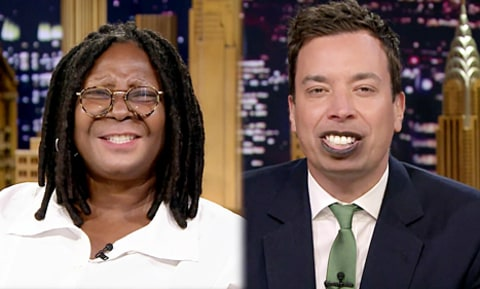 whoopi goldberg and jimmy fallon lip flip