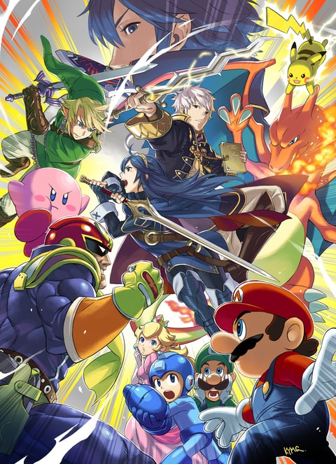 Super Smash Bros. for Wii U art