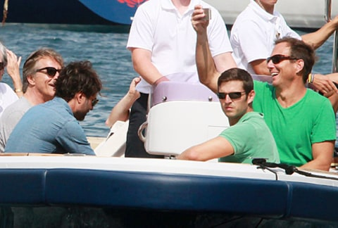 will arnett and don johnson on a boat