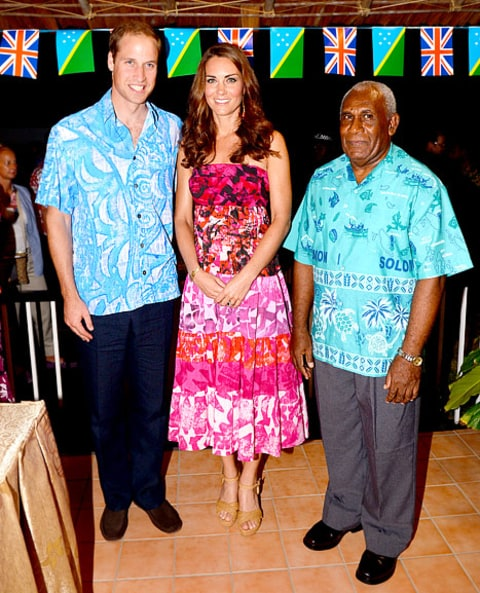 Will and Kate with governor