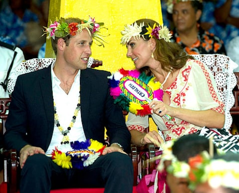 Will and Kate Flower crowns