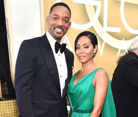 Will Smith and Jada Pinkett Smith at the 73rd Annual Golden Globe Awards