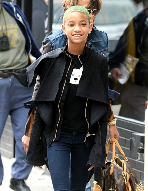 willow smith green hair