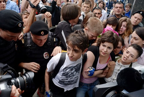 women in culture masha gessen gay protest russia