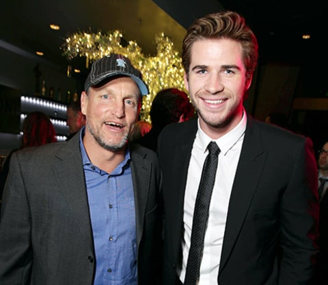 Liam Hemsworth and Woody Harrelson