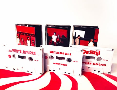the white stripes cassette store day white tapes jack white third man