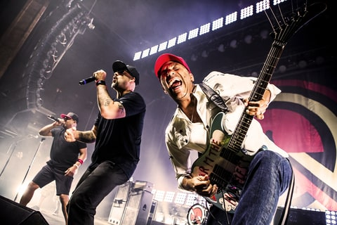 Prophets of Rage performing on July 19th 2016 in Cleveland, Ohio.