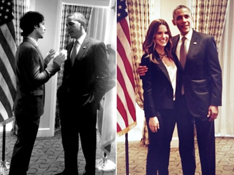 Ian Somerhalder, Sophia Bush, President Obama