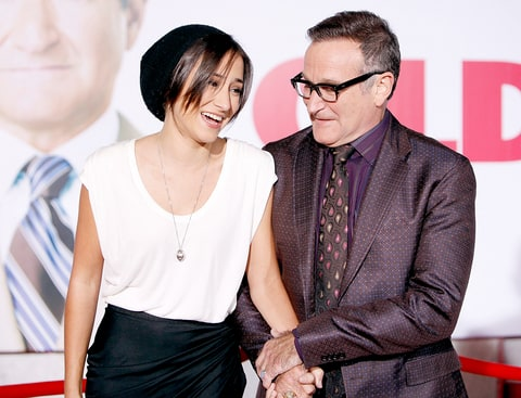 Zelda Williams and Robin Williams arrive to the Los Angeles premiere of