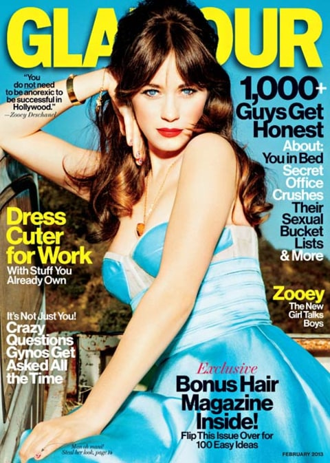zooey glamour cover