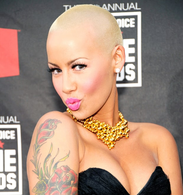 Celebrity news amber rose responds to kanye west with raunchy tweets w