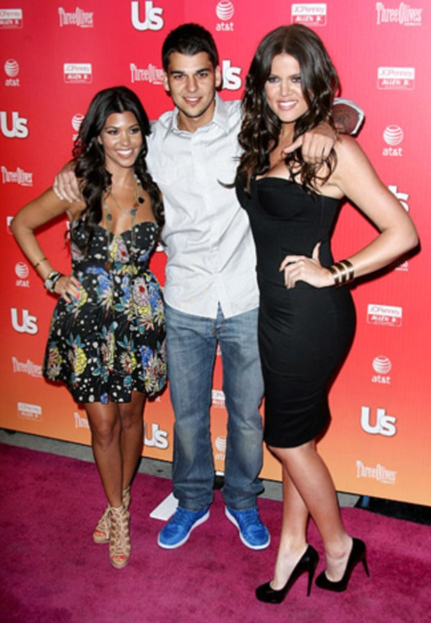 Kourtney, Robert and Khloe Kardashian