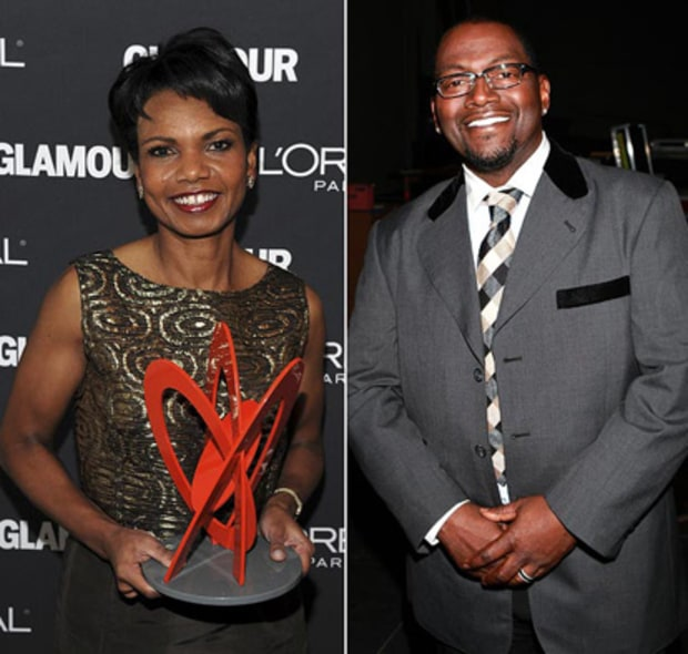 Condoleezza Rice and Randy Jackson