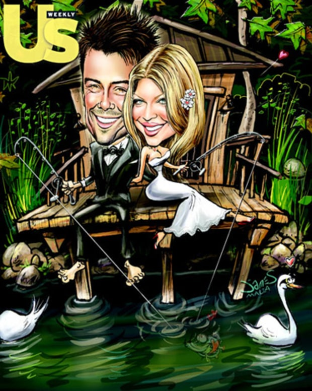 Fergie and Josh Wedding Illustration