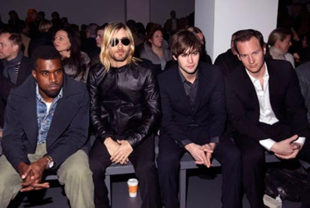 Kanye West, Jared Leto, Chace Crawford and Patrick Wilson