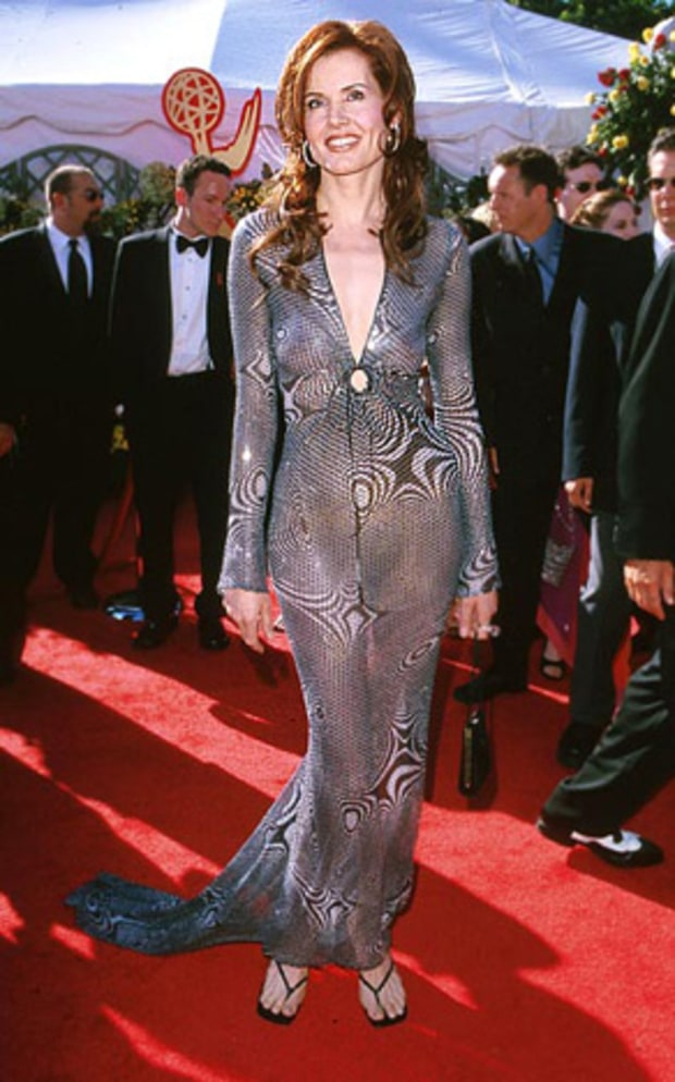 Geena Davis Emmys Worst Dressed Of All Time Us Weekly
