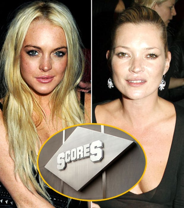 Lindsay Lohan and Kate Moss