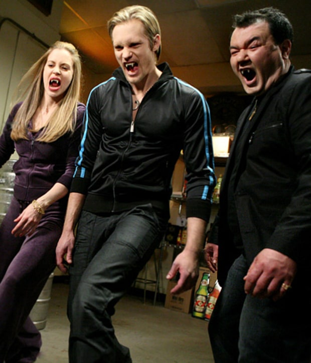 Kristin Bauer, Alexander Skarsgard and Patrick Gallagher
