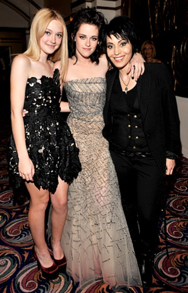 Dakota Fanning, Kristen Stewart and Joan Jett