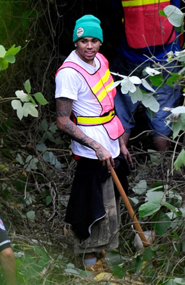 Chris Brown Does Hard Labor