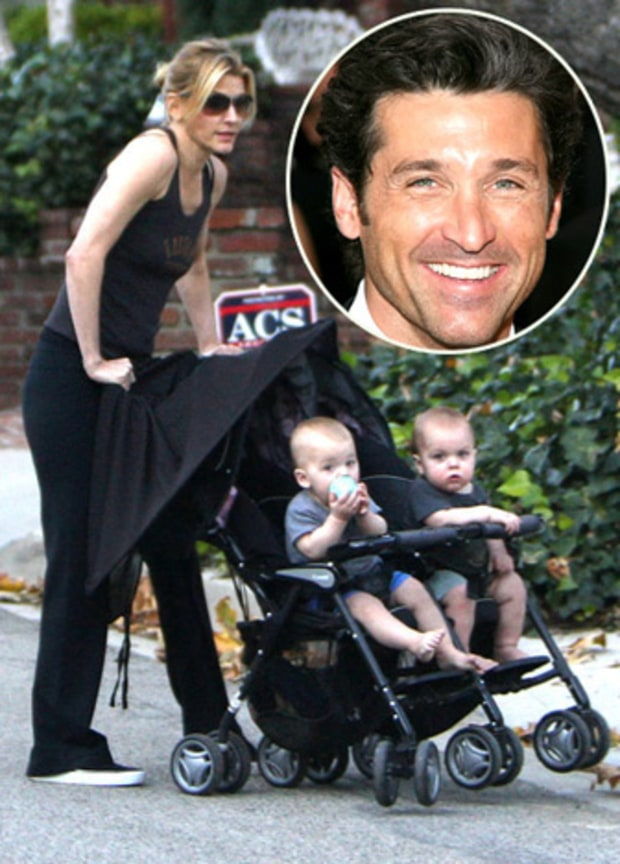 PATRICK DEMPSEY AND TWINS DARBY AND SULLIVAN