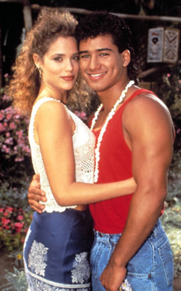 Elizabeth Berkley and Mario Lopez: Then