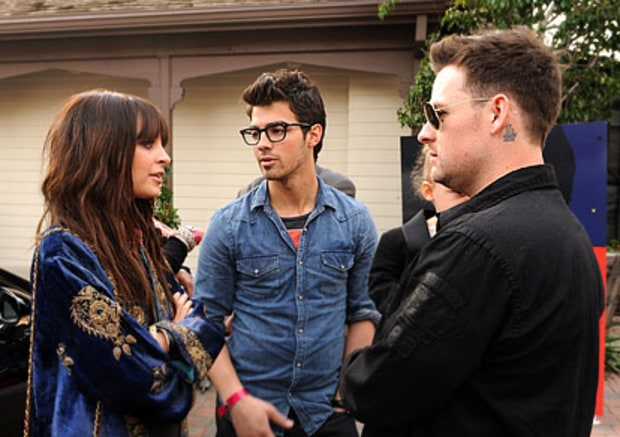Nicole Richie, Joe Jonas and Joel Madden