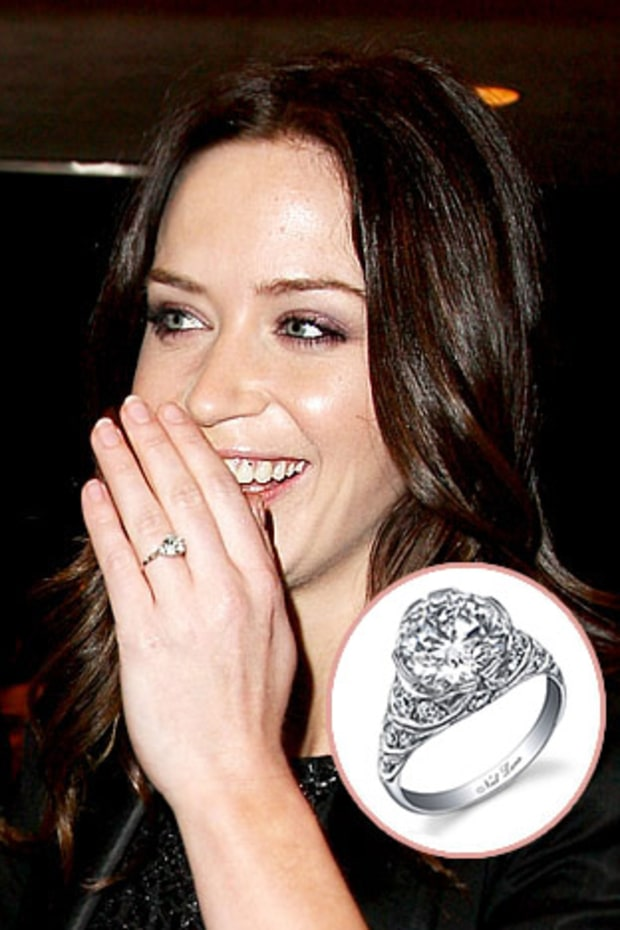 emily blunt stars blingy engagement rings us weekly