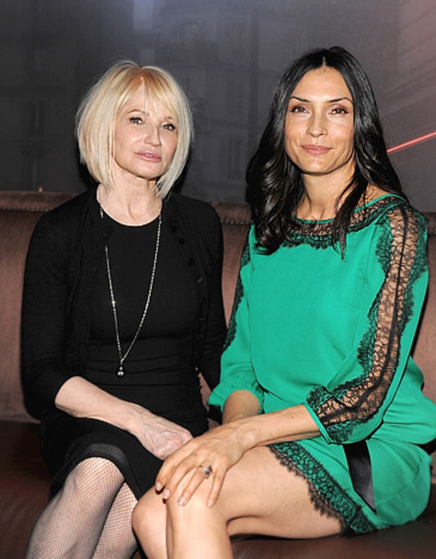 Ellen Barkin and Famke Janssen
