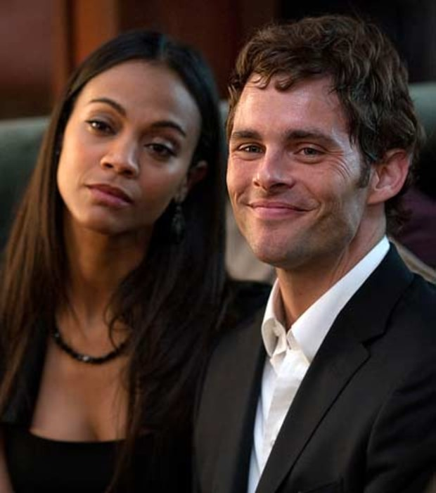Zoe Saldana & James Marsden, Death at a Funeral