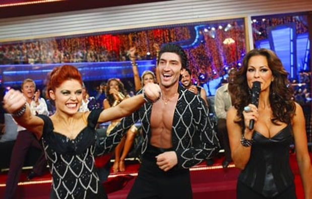 Anna Trebunskaya, Evan Lysacek and Brooke Burke